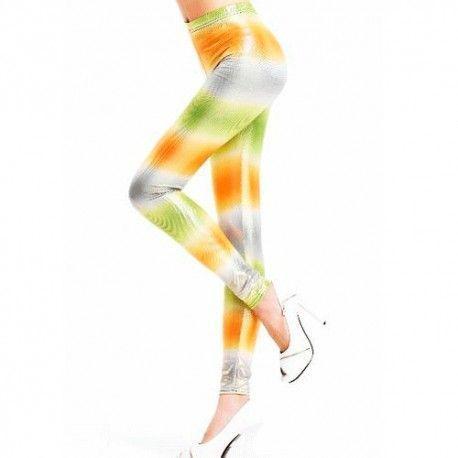 Legging en colores intenso amarillo,verde,gris y blanco talla unica