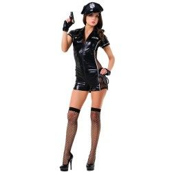LE FRIVOLE - 02546 POLICE OFFICER COSTUME 6 PIECES SET L/XL