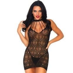 LEG AVENUE MOROCCAN MINI DRESS AND THONG ONE SIZE
