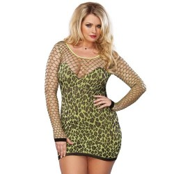 LEG AVENUE MINI VESTIDO LEOPARDO TALLA PLUS